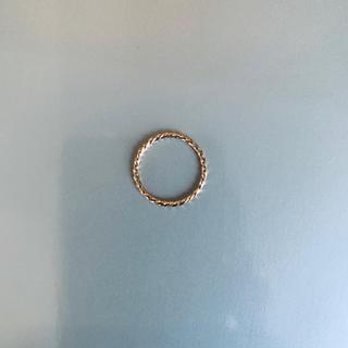 K18 18K イエローゴールド 0号 ピンキーリング 1.2ミリツイスト(リング(指輪))