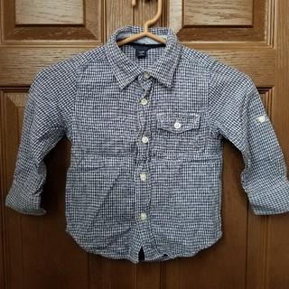 babyGAP - babyGAP 長袖シャツ 95  柔らかい生地 シャツ 裏 チェック