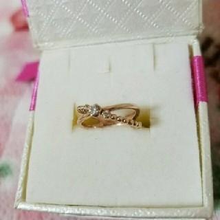 ピンクゴールド ダイヤモンドピンキーリング(リング(指輪))