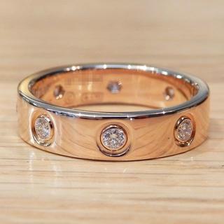 カルティエ(Cartier)の超美品 カルティエ ミニ ラブリング ピンクゴールド ダイヤモンド 5号(リング(指輪))
