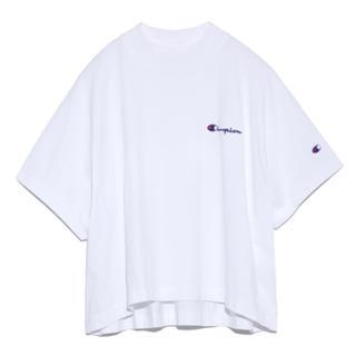 フレイアイディー(FRAY I.D)の【FRAY I.D×Champion】ドロップスリーブプルオーバーWHT-F(Tシャツ(半袖/袖なし))