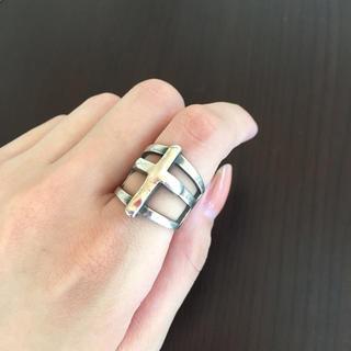 マウジー(moussy)のmoussy クロスリング シルバー(リング(指輪))