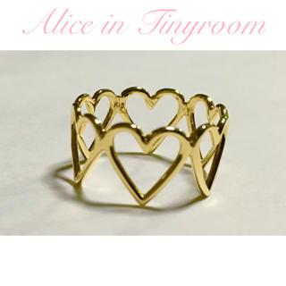 AHKAH - Alice in Tinyroom tiny LOVE Ring k18