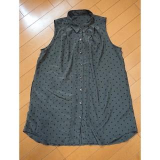 ジーユー(GU)のGU チュニックブラウス M(シャツ/ブラウス(半袖/袖なし))