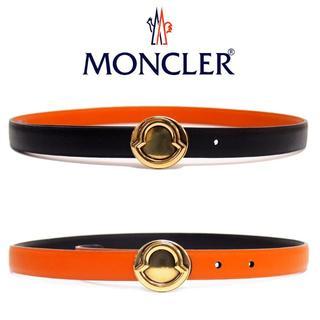 MONCLER - 6 MONCLER リバーシブル ベルト ブラック ブラウン size 80
