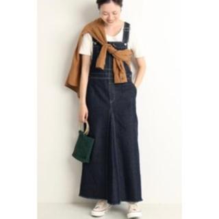 IENA SLOBE - 新品タグ付 SLOBE IENA ボリュームフレアジャンパースカート 40