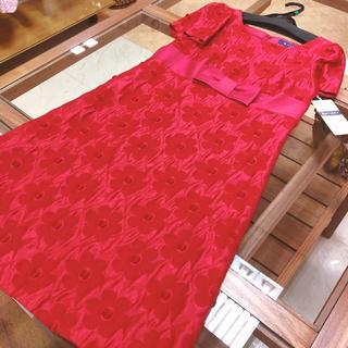 M'S GRACY - 新品 定価41040円 M'S GRACY ワンピース 赤 38サイズ