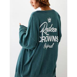 ロデオクラウンズワイドボウル(RODEO CROWNS WIDE BOWL)の加工 ニット カーディガン(カーディガン)