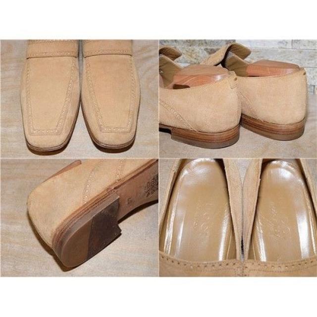 Gucci(グッチ)の定価9万円 グッチ レザーローファー スエードキャメル 26cm メンズの靴/シューズ(スリッポン/モカシン)の商品写真