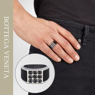 ボッテガヴェネタ(Bottega Veneta)の13BOTTEGA VENETA シルバー×キュービックジルコニアリング(リング(指輪))