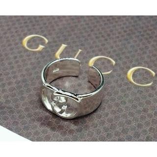 Gucci - Gucciグッチ シルバー調節可能ノベルティリング