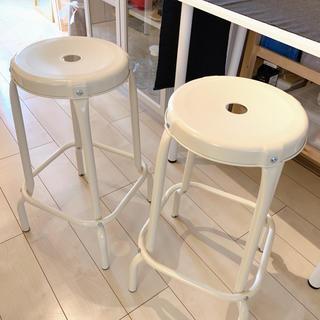 IKEA - ikea イケア ロースコグ  バースツール バーチェア 2個セット