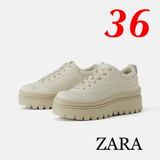 ザラ(ZARA)の新品 完売品 ZARA 36 プラットフォーム 厚底 スニーカー(スニーカー)