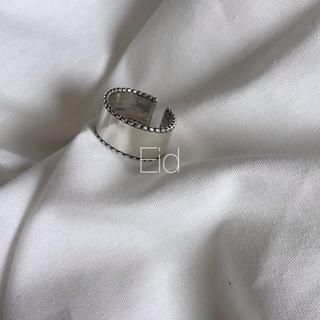 トゥデイフル(TODAYFUL)のWide silver grain ring No.55(リング(指輪))