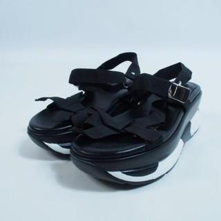 テバ(Teva)の韓国 厚底 サンダル ダッドスニーカー スポーツサンダル ブラック 黒(サンダル)