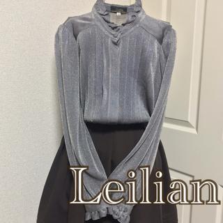 レリアン(leilian)のLeilian 長袖ブラウス エレガント 黒 ゴールド(シャツ/ブラウス(長袖/七分))