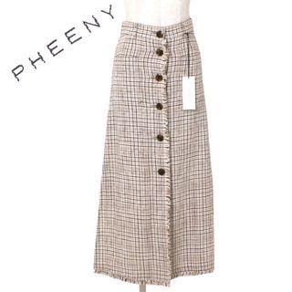 フィーニー(PHEENY)の19ss PHEENY LINEN CHECK LONG SKIRT フィーニー(ロングスカート)