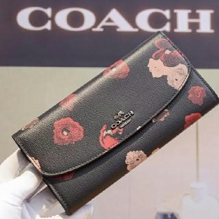 COACH - ☆新品未使用☆ コーチCOACH☆かわいい花柄 長財布
