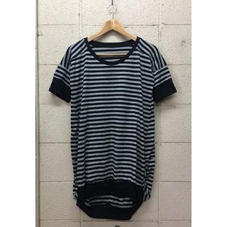 エックスガール(X-girl)のX-girl ボーダー半袖ロング丈Tシャツ Sサイズ(Tシャツ(半袖/袖なし))