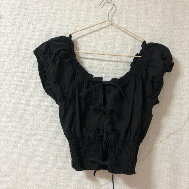 Kastane(カスタネ)のKastane リボン ブラウス レディースのトップス(シャツ/ブラウス(半袖/袖なし))の商品写真