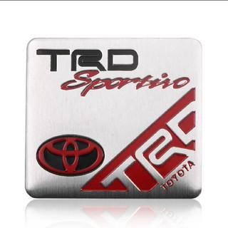 トヨタ  TRD アルミ製  エンブレム ステッカー