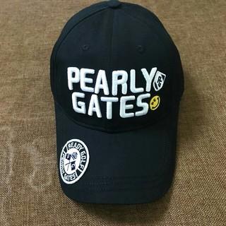 パーリーゲイツ(PEARLY GATES)のPEARLY GATES キャップ 帽子 ファッション   ブラック(キャップ)