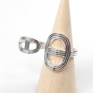 エルメス(Hermes)の希少 美品 エルメス シェーヌダンクル 24 ダブル リング YL68(リング(指輪))
