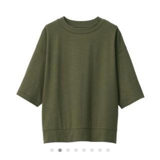MUJI (無印良品) - ムラ糸天竺編 五分袖Tシャツ