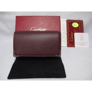 カルティエ(Cartier)の新品 カルティエ 6連キーケース エンジ 革 札入れ付きキーケース 本物(キーケース)
