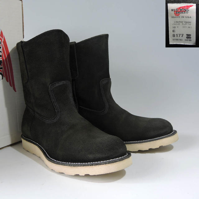 REDWING(レッドウィング)のBEAMS別注8177ペコスブーツブラック黒スエードビームス8169 8274  メンズの靴/シューズ(ブーツ)の商品写真