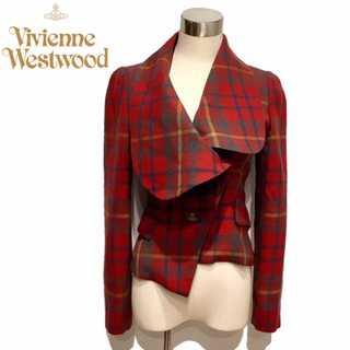 Vivienne Westwood - 新品同様 ヴィヴィアンウエストウッド チェック 変形 ウール ラブ ジャケット