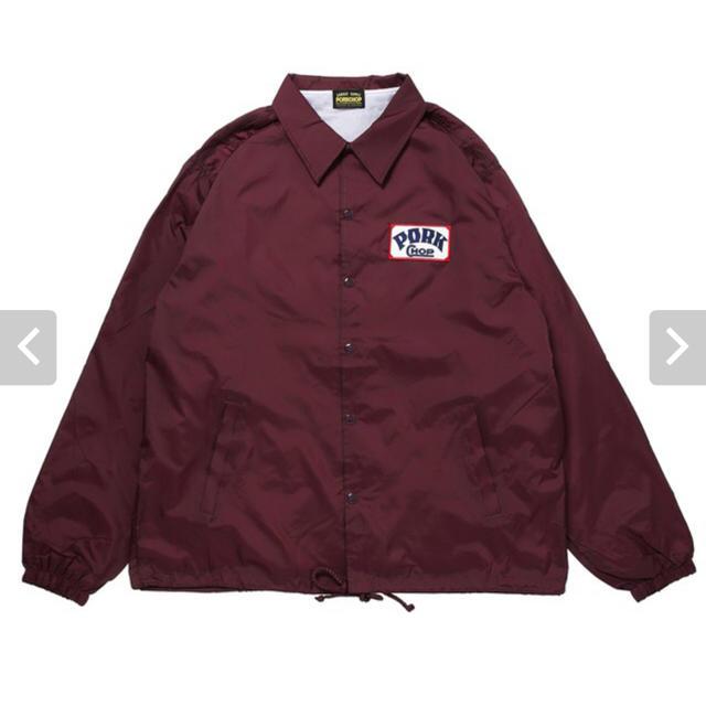 TENDERLOIN(テンダーロイン)の送料込み 新品 ポークチョップガレージサプライ コーチジャケット L 赤 レット メンズのジャケット/アウター(ナイロンジャケット)の商品写真