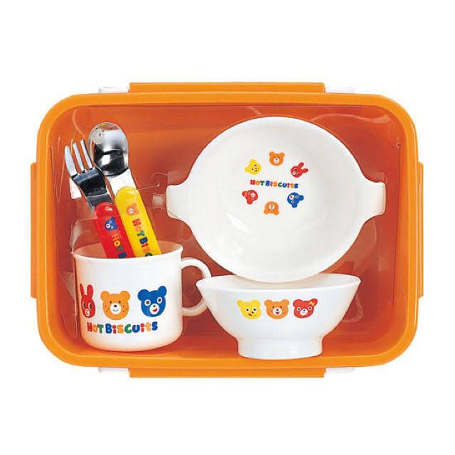mikihouse(ミキハウス)のミキハウス ホットビスケッツ食器セット キッズ/ベビー/マタニティの授乳/お食事用品(離乳食器セット)の商品写真
