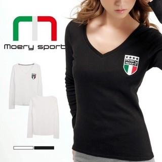 モエリー(MOERY)のモエスポ♡新品 イタリア ロンT ホワイト(Tシャツ/カットソー(七分/長袖))