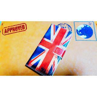 イギリス アンティーク風 ダメージ ユニオンジャック 手帳型 おしゃれ 送料無料(iPhoneケース)