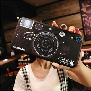 ブラック iPhoneX カメラ デザイン お洒落 ケース(iPhoneケース)