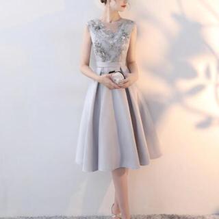 ライトグレー インポートドレス フォーマルドレス パーティードレス