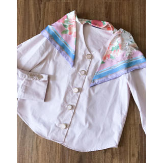 eimy istoire - 美品 eimy フラワー スカーフ ブラウス ピンク 花柄 シャツ