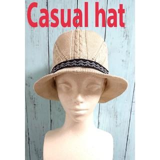 カシラ(CA4LA)のカジュアルハット 帽子 casual hat ベージュ(ハット)