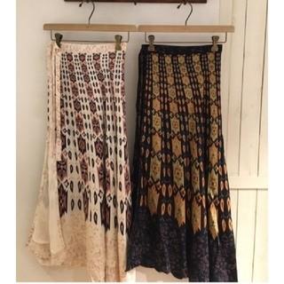 Ungrid - ungrid エスニックプリントラップスカート