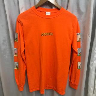 ビームス(BEAMS)のGARFIELD 袖プリント ロングスリーブ  オレンジ ガーフィールド (Tシャツ/カットソー(七分/長袖))