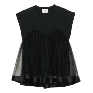 プティマイン(petit main)のプティマインリアン/チュールTシャツ(Tシャツ(半袖/袖なし))