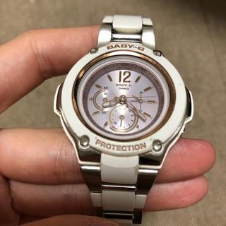 Baby-G - G-SHOCK Baby-G ホワイト ピンク 腕時計