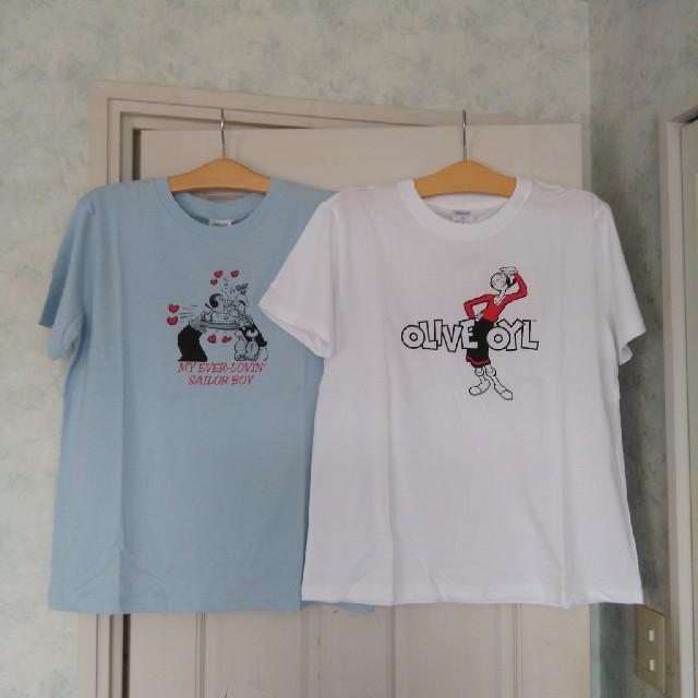 GU(ジーユー)の【夏物セール】未使用 gu Tシャツ 2枚セット XLサイズ レディースのトップス(Tシャツ(半袖/袖なし))の商品写真