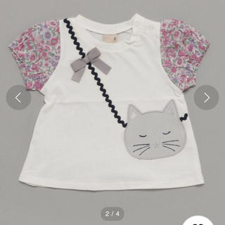 petit main - petit main 新品未使用 100 猫ポシェットTシャツ