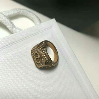 ディオール(Dior)のDior  シャネル 指輪 スクロールラベルリング ラージ (リング(指輪))