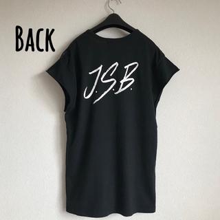 三代目 J Soul Brothers - 【J.S.B】レア 正規品★フレンチスリーブ ロングTシャツ★黒 ノースリーブ