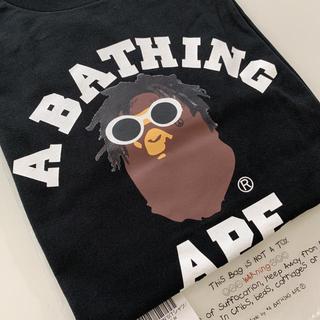 アベイシングエイプ(A BATHING APE)のA BATHING APE × WIZ KHALIFA ロンT BLACK(Tシャツ/カットソー(七分/長袖))