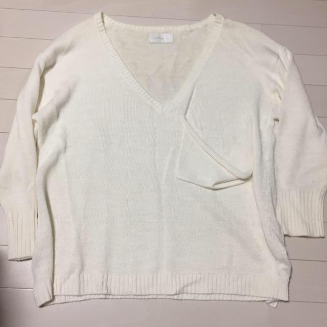 SeaRoomlynn(シールームリン)のSeaRoomlynn ポケット付きオーバーサイズVネックニット レディースのトップス(ニット/セーター)の商品写真