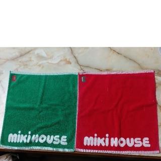 ミキハウス(mikihouse)のミキハウスハンドタオル 2枚 中古(タオル/バス用品)
